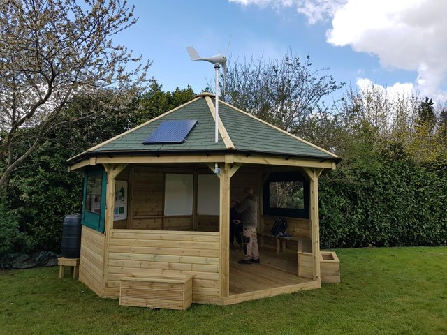 The outdoor classroom at East Hunsbury Primary School.