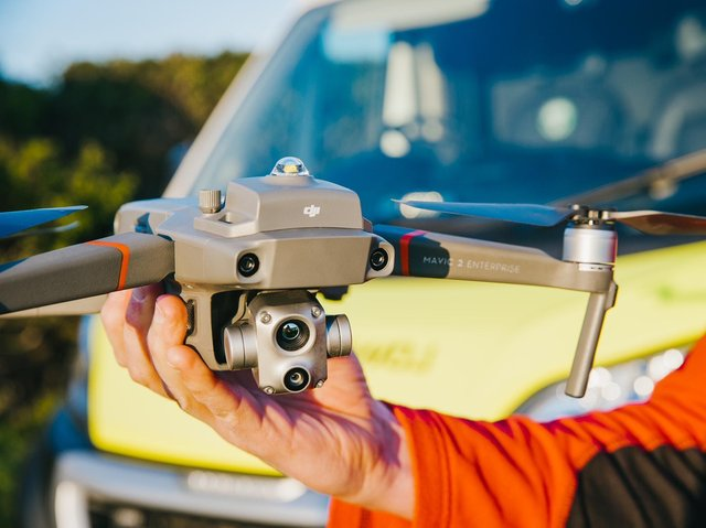 The new drone bought by Northants Search and Rescue