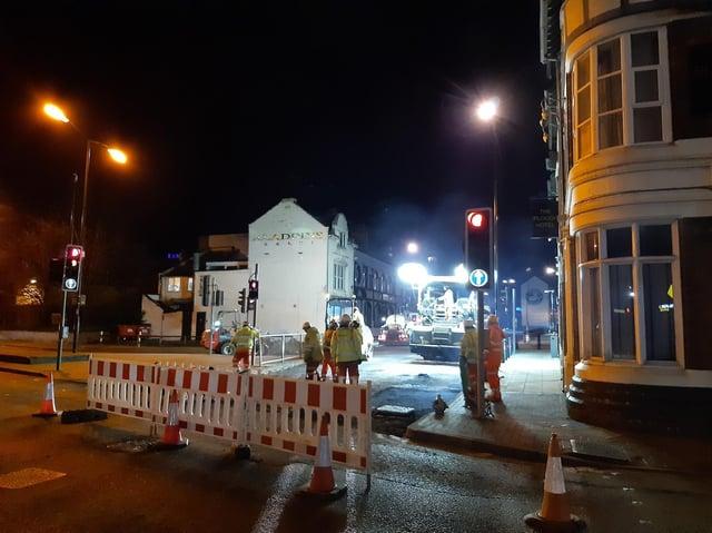 The roadworks on Bridge Street began on April 12