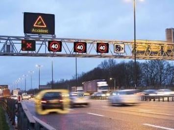 Smart motorways have four lines of live traffic with no hard shoulder