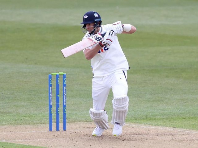 Joe Root in action for Yorkshire in their recent draw with Kent
