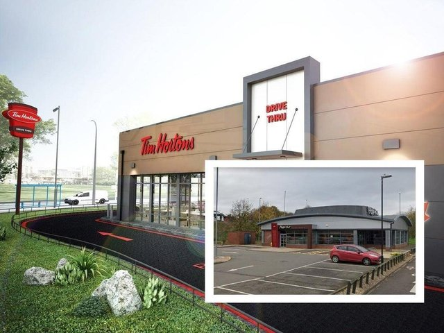 3-D artist's impression of what the Tim Hortons will look like