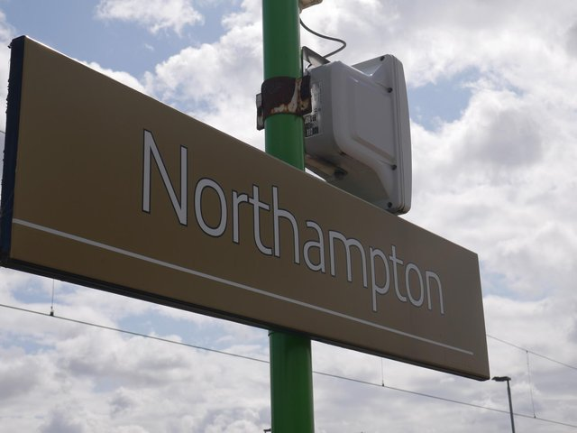 Trains into and out of Northampton were severely disrupted as police tracked down a trespasser