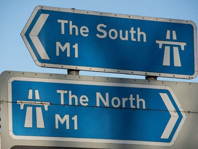 There are major queues north and southbound on the M1 near Northampton on Wednesday morning