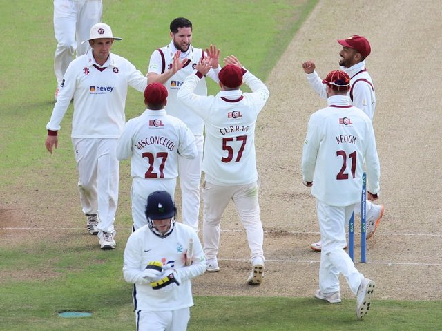 Wayne Parnell celebrates claiming one of his five wickets at Headingley (Pictures: Peter Short)