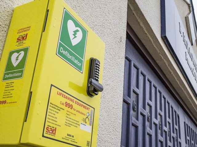 The defibrillators will be mounted on walls around Grange Park. (File picture).