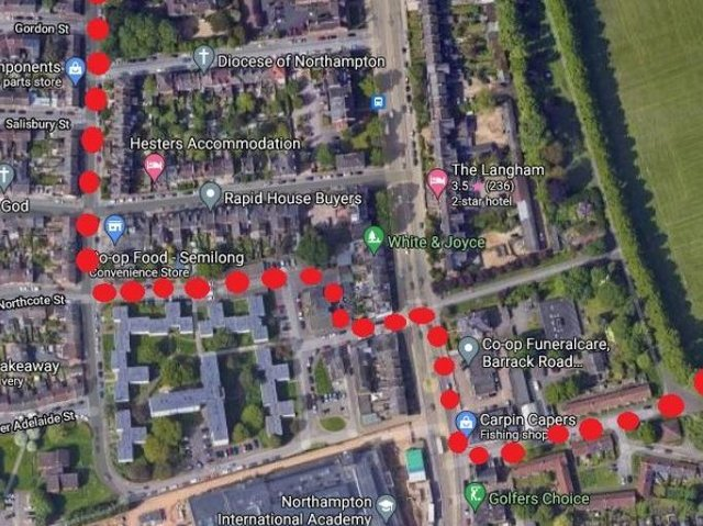 Police mapped out the route taken by three young girls from the Racecourse to Semilong on Tuesday