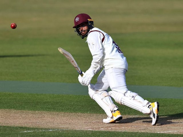 Saif Zaib top-scored for Northants against Yorkshire, making 55