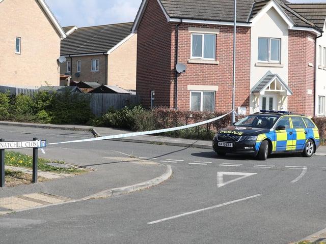 Police at the scene. Credit: Andrew Bennett