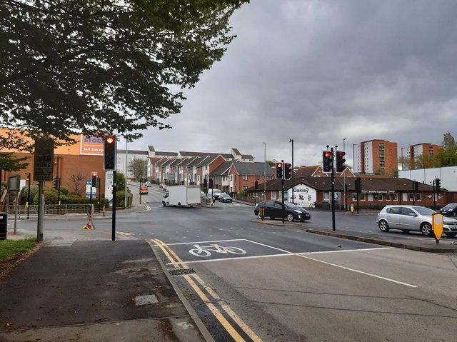 The completed works at the Spencer Bridge Road and St Andrew's Road junction