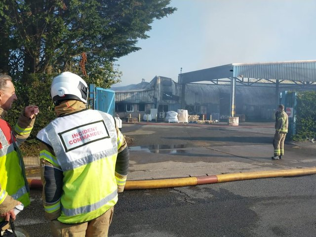 The fire, which caused huge damage to a Northampton business, is now being treated as arson.