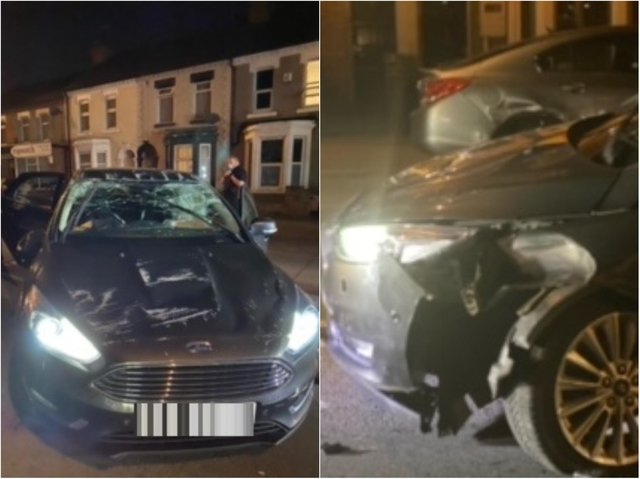 The car has been written off following the incident on Saturday (May 1).