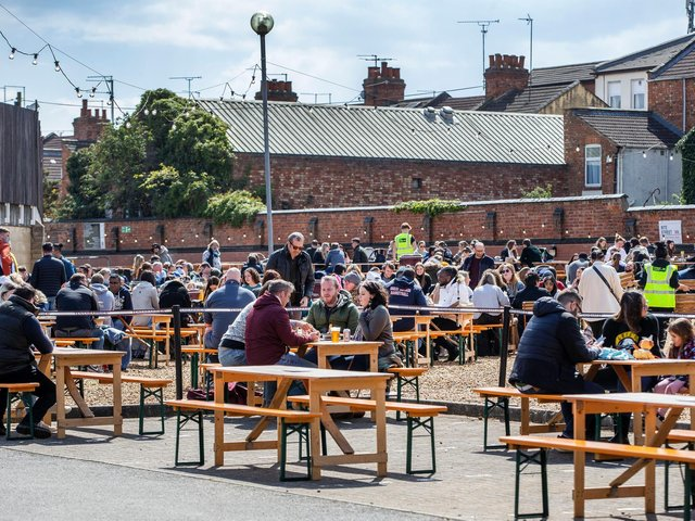 Crowds of people flocked to visit the popular street food pop-up over the bank holiday weekend.