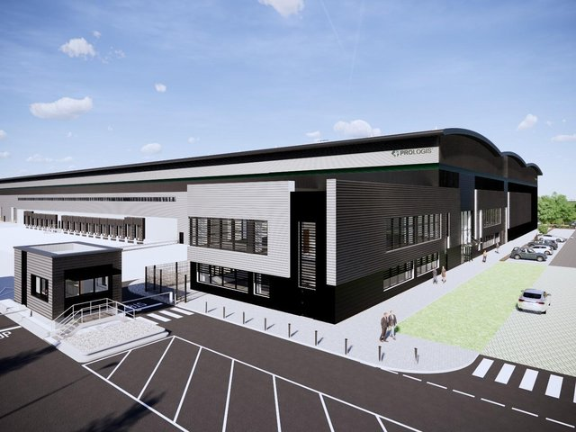 How Dunelm's new warehousing unit at Daventry International Rail Freight Terminal (DIRFT) will look once it is completed in September