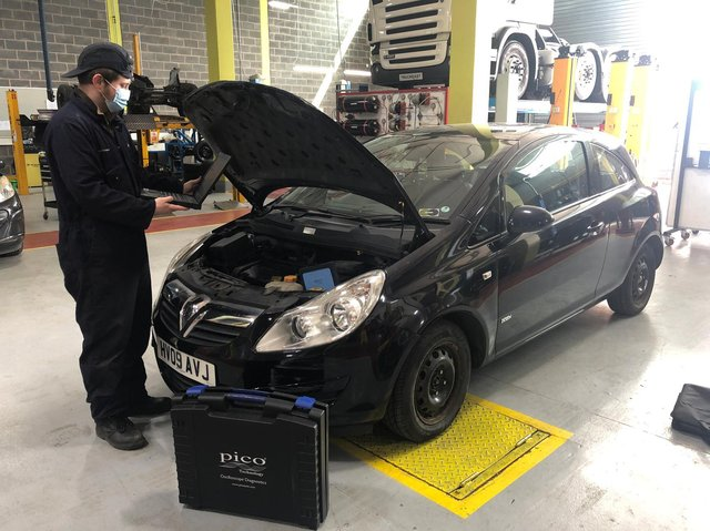 One of the cars Auto Spares has donated to Northampton College's mechanics students