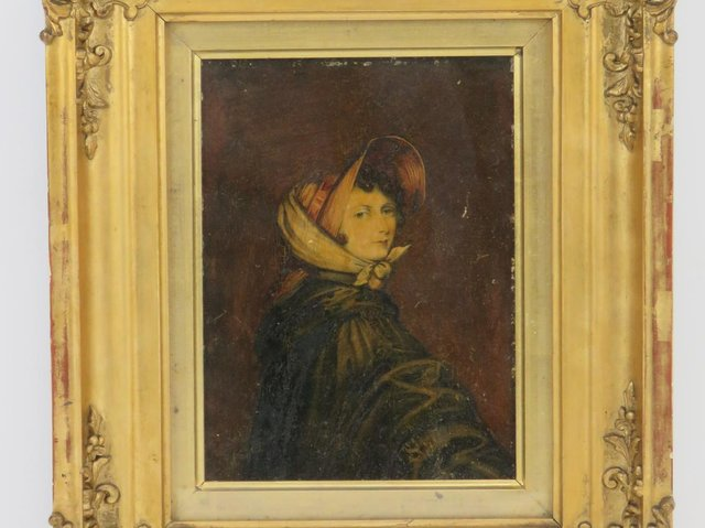 The lost 'Bonnet Portrait' of Emily Brontë being auctioned by Humbert & Ellis Auctioneers