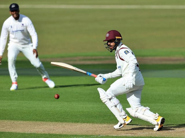 Saif Zaib hit his first century for Northants as the County dominated Sussex on day two at Wantage Road