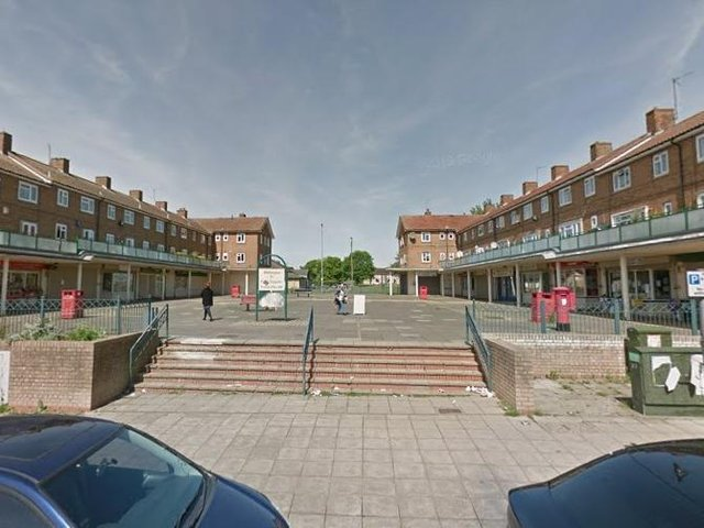 Northamptonshire Police officers were called to reports of a disturbance involving a group of males in the shopping area in South Oval, Kings Heath, at about 11.45am today (Saturday, May 8) before a man was stabbed. Photo: Google