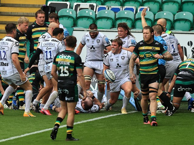 It was a miserable afternoon for Saints at Franklin's Gardens