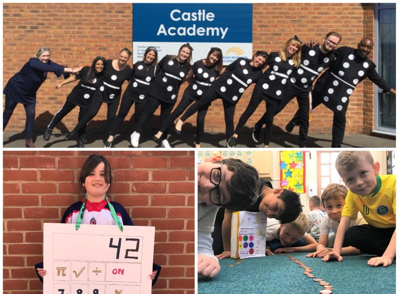 Staff and pupiles from Stimpson Avenue and Castle academies joined in the fun