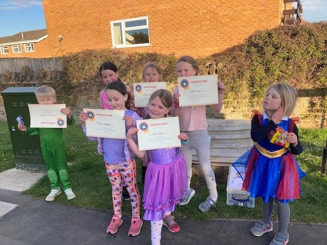 Harpole residents, young and old, took part in the fun run to raise money for Olivia's Smile