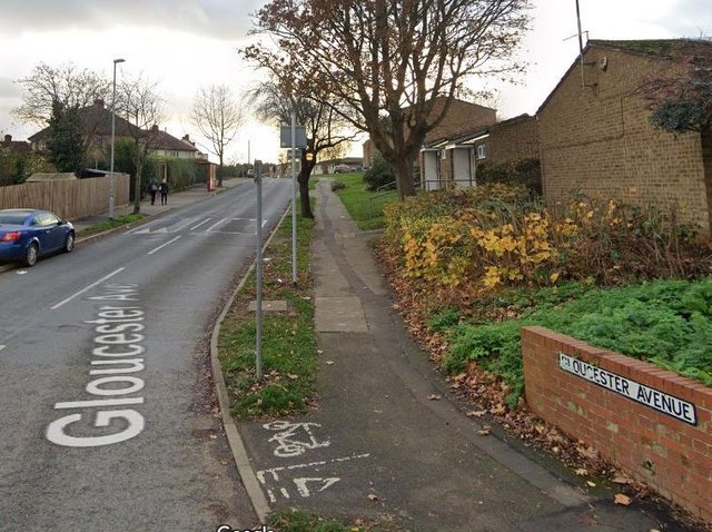 The would-be thief was seen running along Gloucester Avenue towards Towcester Road