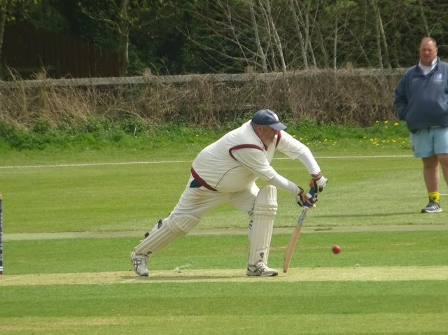 Mark Pearson  performed well with the bat for Geddington 3rd but it wasn't enough to prevent a defeat to Brigstock 2nd. Picture by Nathan Armstrong