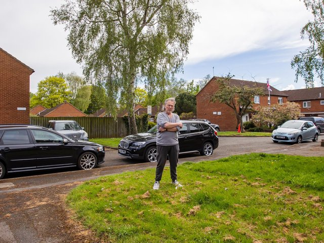 Dave Cooper outside his home in Parkwood Street