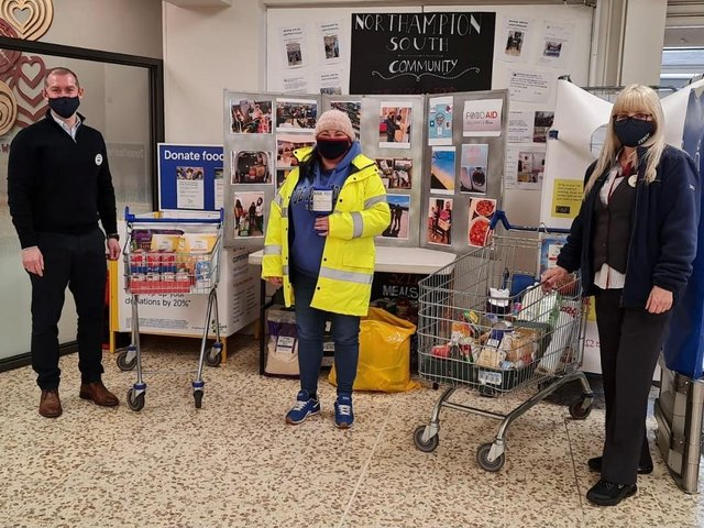 Tesco Northampton South Extra staff asked customers to support the food bank at the Sikh Community Centre and Youth Club on Saturday (May 8)
