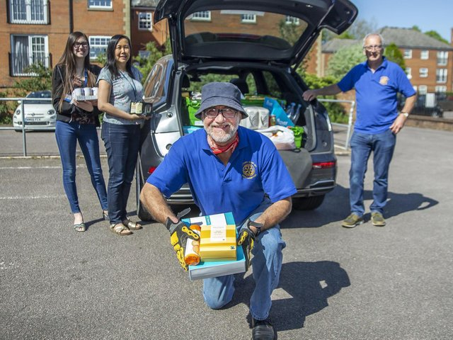 The Rotary Club of Northampton has been helping those in need since 1922, including making a donation of food to Restore last year
