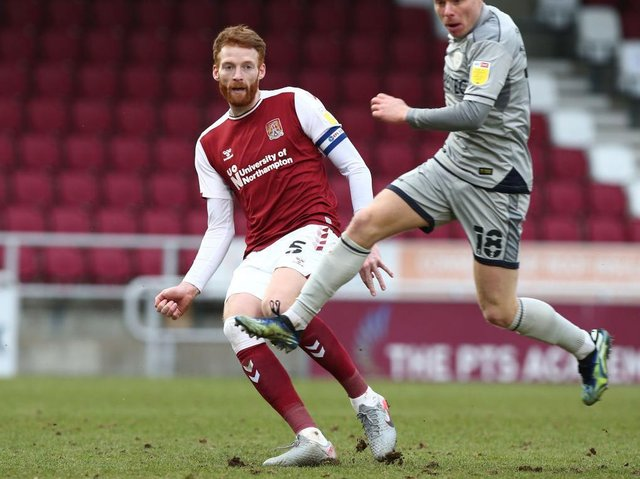 Cian Bolger skippered the Cobblers in the 2-0 defeat to Burton Albion in February, but he never played again
