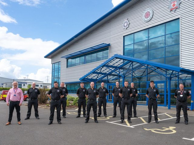 Norhamptonshire Fire & Rescue's newest recruits report for duty at HQ.