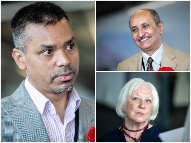 West Northamptonshire Council members for Castle ward, Jamal Alwahabi (top right), Enam Haque and Danielle Stone