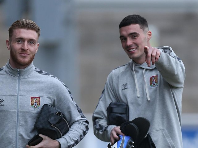 Ryan Watson (left) and Lloyd Jones have been offered new contracts to stay at the Cobblers