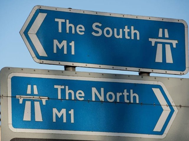 Two lanes shut on the M1.