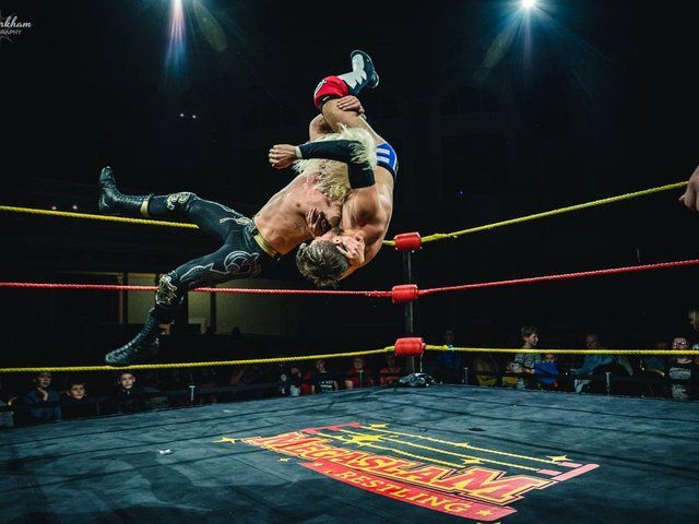 Megaslam Wrestling's American Wrestling Show will be at The Deco Theatre on May 30. Photo courtesy of Megaslam