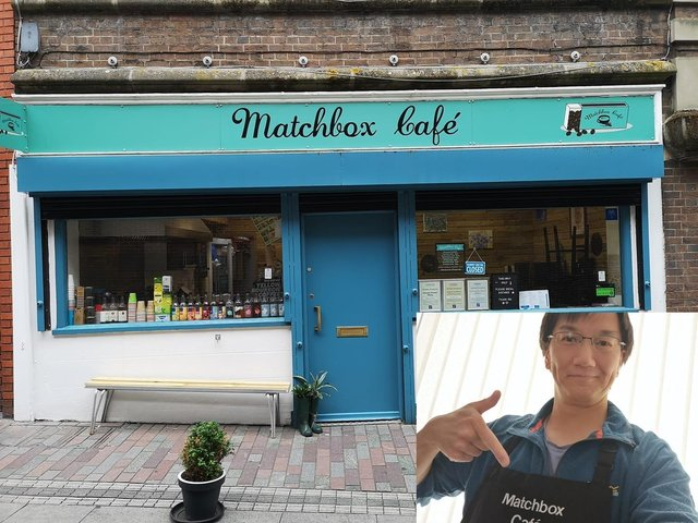 The Matchbox Café and owner, Bing Wan.
