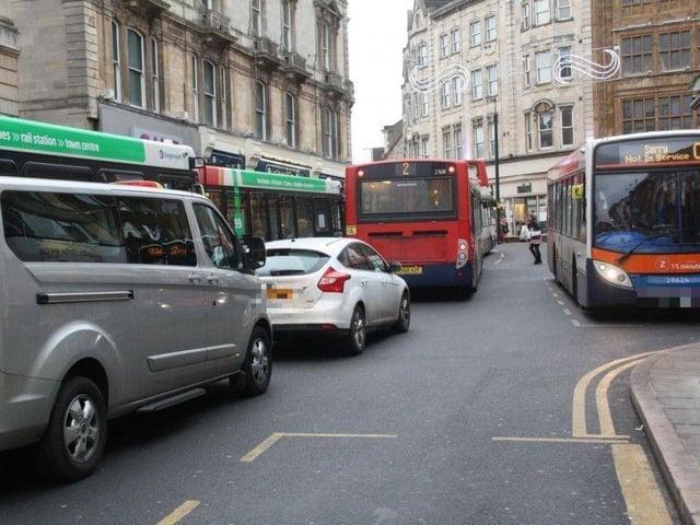 Drapery bus lane
