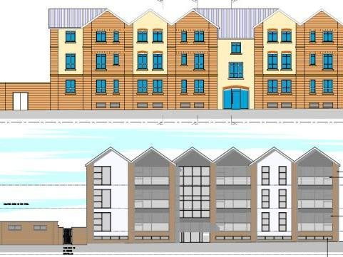 Drawings of what the flats could look like.