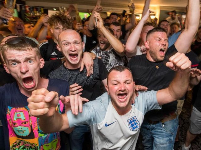 Pubs and clubs were packed in 2018 — but fans watching group games in this year's Euros need to stick by Covid-19 restrictions.