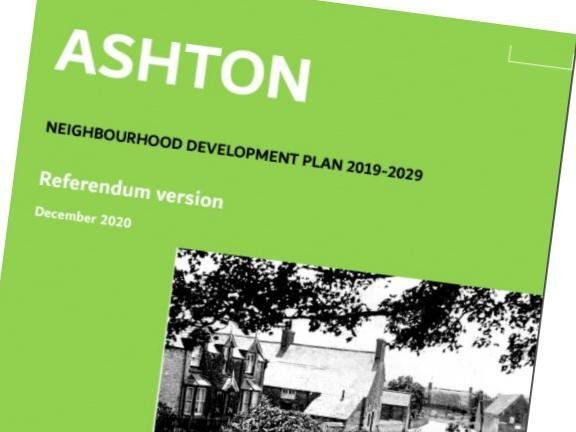 Residents overwhelmingly backed the Ashton Neighbourhood Plan in a referendum