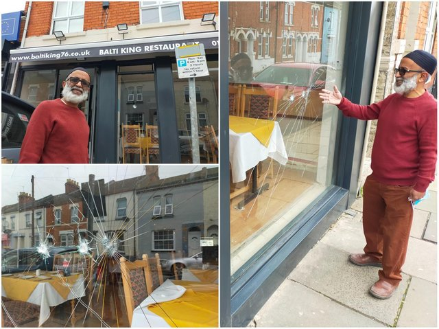 Balti King's owner Councillor Rahman says his property was targeted by vandals following his election win.
