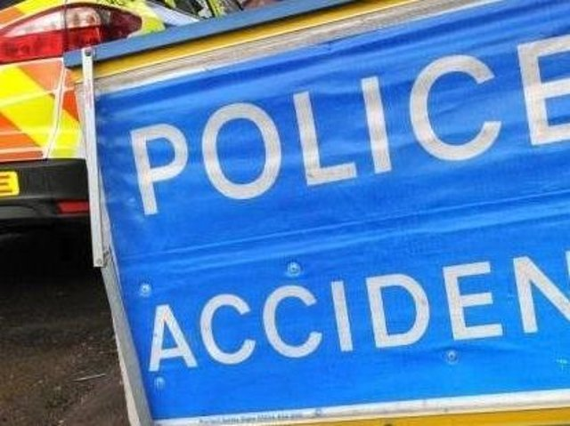 The A43 is closed near Brackley after a lorry overturned on Friday morning