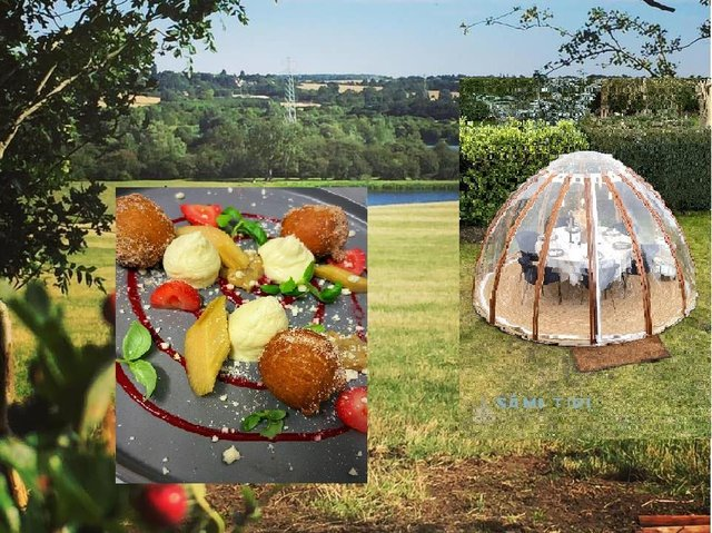 Pop-up Partners are hosting an igloo dining experience in the Nene Valley