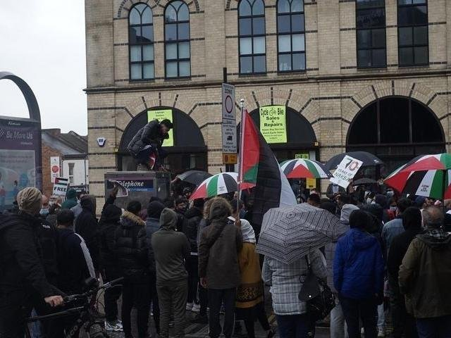 The protest to support Palestine that took place last Saturday (May 15).