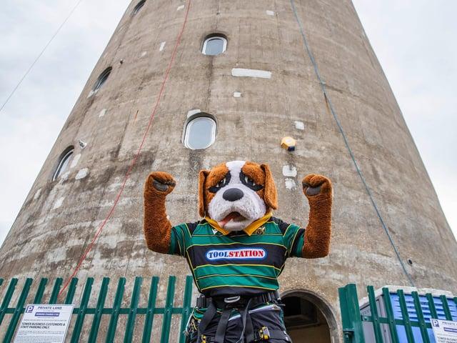 Northampton Saints' Mascot, Bernie, helped to raise nearly £5,000 for the NSF.