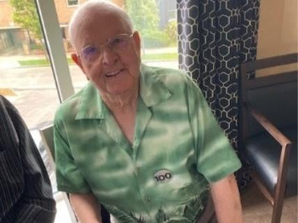 Jack Waterfield celebrated his 100th birthday at Timken Grange care home in Northampton on Monday, May 17