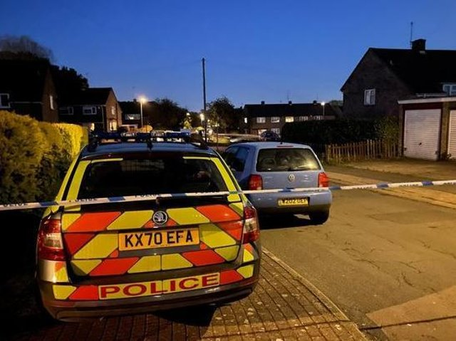 Officers rushed to reports of a stabbing in Constable Road, Corby, last night