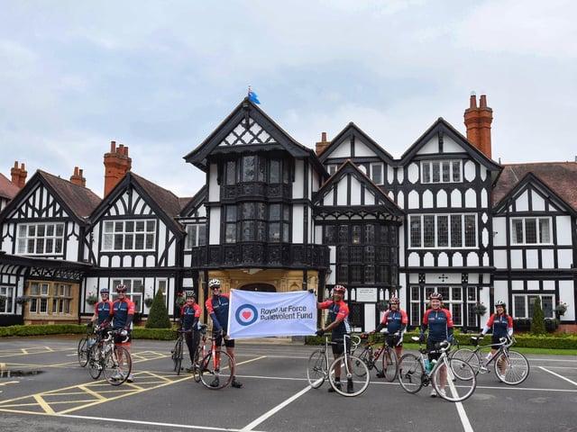 The Blades undertook the bike ride to raise money for the RAF Benevolent Fund