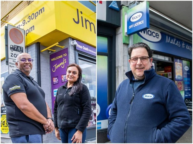 Jimmy's Store owners Jimmy and Shital Patel and Market Street Newsagents owner Andrew Cruden, who were both named on the Independent Achievers Academy's best 100 stores